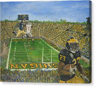 Ohio State Vs. Michigan 100th Game Canvas Print by Travis Day