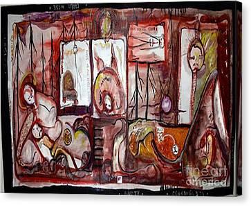 Oil Spill Canvas Print by Carol Rashawnna Williams
