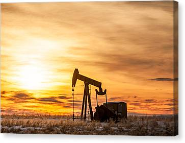 Oil Stained Sky Canvas Print by Todd Klassy