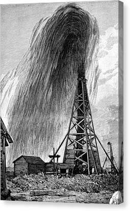 Oil Well, 19th Century Canvas Print by