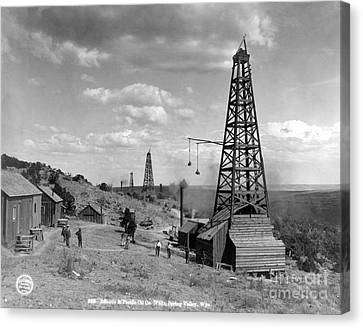 Oil Well, Wyoming, C1910 Canvas Print by Granger