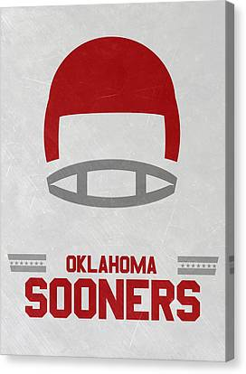 Oklahoma Sooners Vintage Football Art Canvas Print by Joe Hamilton