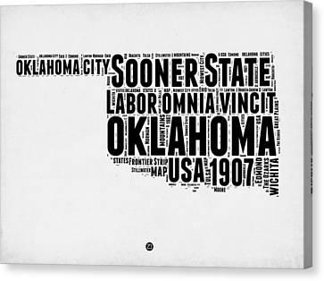 Oklahoma Word Cloud 2 Canvas Print by Naxart Studio