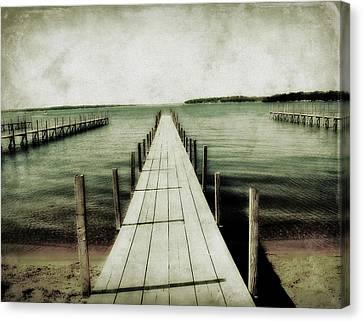 Okoboji Docks Canvas Print by Julie Hamilton