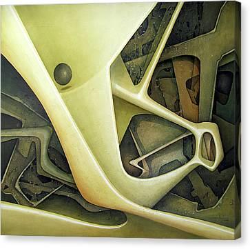 Ol1962dc001 Micro Cosmos 48x58 Canvas Print by Alfredo Da Silva