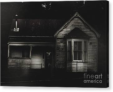 Old Abandoned Haunted House Of Horrors Canvas Print by Jorgo Photography - Wall Art Gallery