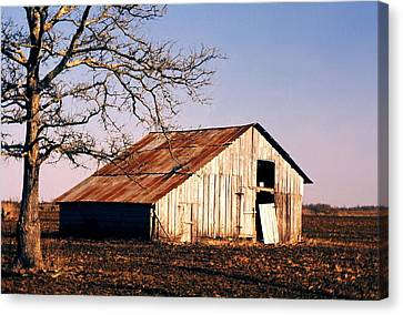 Old Barn Canvas Print by John Foote