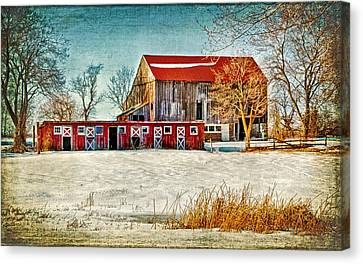 Old Barn On Forrest Road Canvas Print by Carolyn Derstine