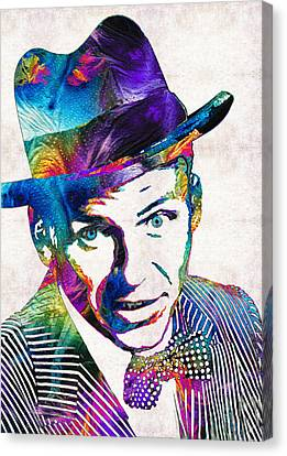 Old Blue Eyes - Frank Sinatra Tribute Canvas Print by Sharon Cummings