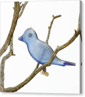 Old Bluebird Ornament Canvas Print by Art Block Collections