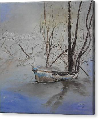 Old Boat Canvas Print by Maria Woithofer