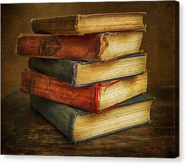 Old Books Canvas Print by Theresa Tahara