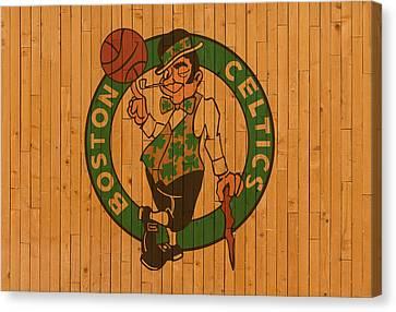 Old Boston Celtics Basketball Gym Floor Canvas Print by Design Turnpike