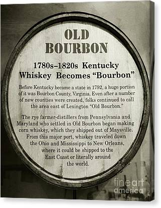 Old Bourbon Canvas Print by Mel Steinhauer