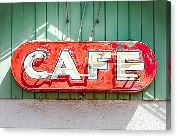 Old Cafe Sign Canvas Print by Todd Klassy