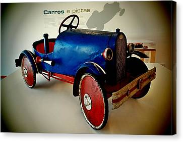 Old Car Toy 02 Canvas Print by Dora Hathazi Mendes