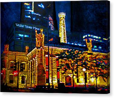 Old Chicago Pumping Station Canvas Print by Michael Durst