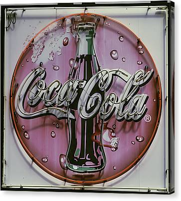Old Coke Neon Sign Canvas Print by Garry Gay