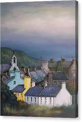 Old Copper Mining Town Canvas Print by Sean Conlon