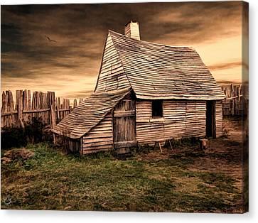 Old English Barn Canvas Print by Lourry Legarde