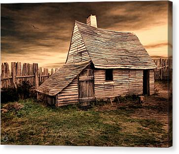 Old English Barn Canvas Print by Lourry Legarde