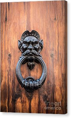 Old Face Door Knocker Canvas Print by Edward Fielding