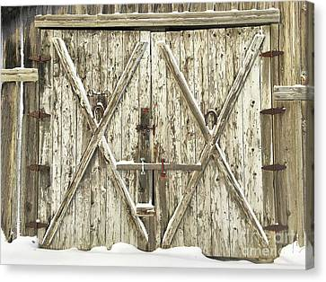 Old Farm Doors Canvas Print by Anthony Djordjevic
