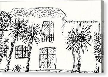 Old Farm In Torremolinos Canvas Print by Chani Demuijlder