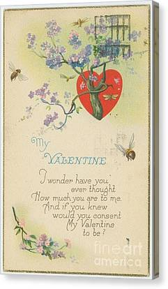 Old Fashion Valentine One Canvas Print by Pd