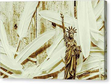 Old-fashioned Statue Of Liberty Monument Canvas Print by Jorgo Photography - Wall Art Gallery