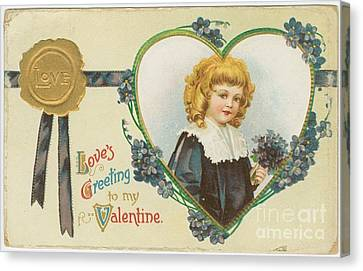 Old Fashioned Valentine Three Canvas Print by Pd