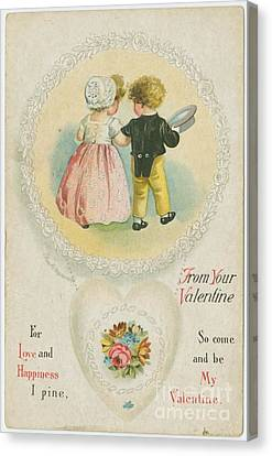 Old Fashioned Valentine Two Canvas Print by Pd