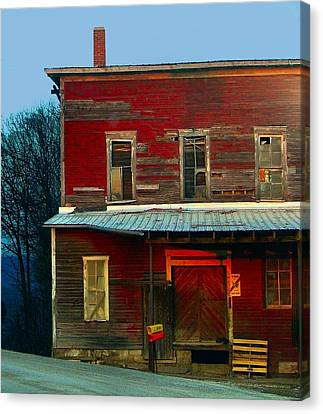 Old Feed Mill In The Afternoon Canvas Print by Julie Dant