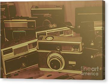 Old Film Cameras Canvas Print by Jorgo Photography - Wall Art Gallery