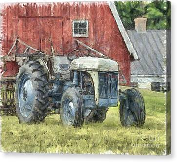 Old Ford Tractor Colored Pencil Canvas Print by Edward Fielding