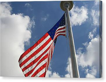 Old Glory 1 Canvas Print by Bob Gardner