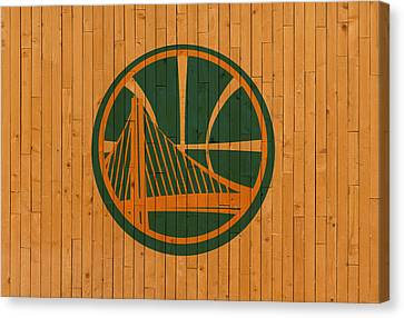 Old Golden State Warriors Basketball Gym Floor Canvas Print by Design Turnpike