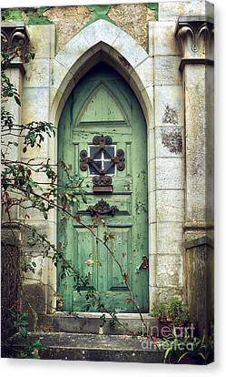 Old Gothic Door Canvas Print by Carlos Caetano