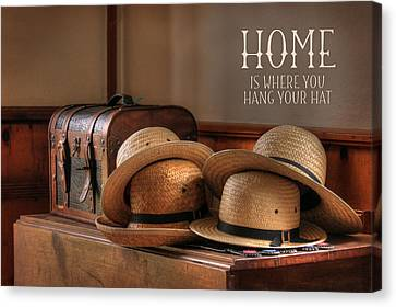Old Hats Canvas Print by Lori Deiter