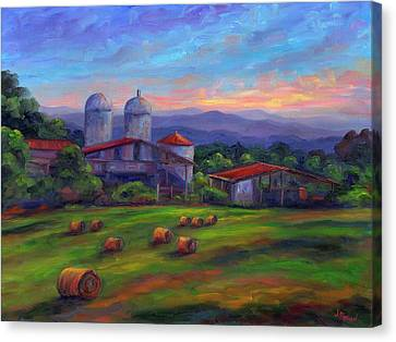 Old Hollabrook Farm At Dusk Canvas Print by Jeff Pittman