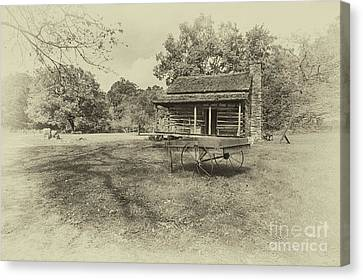 Old Homestead Canvas Print by Tom Gari Gallery-Three-Photography