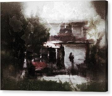 Old House Memory Canvas Print by H James Hoff