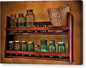 Old Jars Canvas Print by Lana Trussell