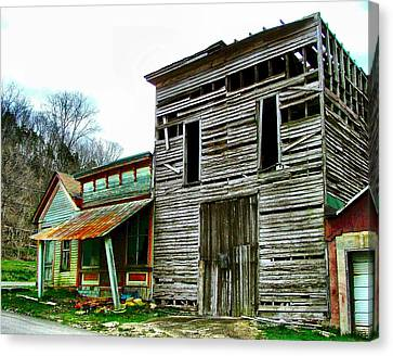 Old Leavenworth Indiana Ghost Town II Canvas Print by Julie Dant