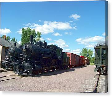 Old Locomotive Canvas Print by Charles Robinson