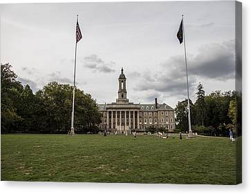 Old Main Penn State Wide Shot  Canvas Print by John McGraw