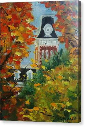 Old Main Canvas Print by Stacy Spangler