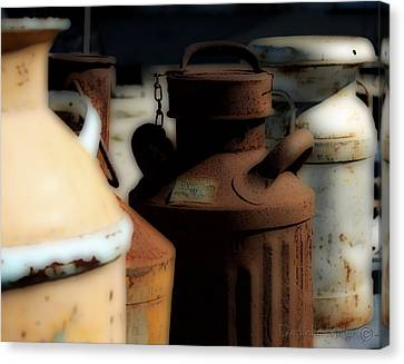 Old Milk Cans Canvas Print by Danielle Miller