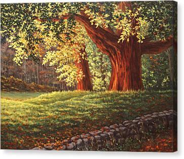 Old Neighbors Canvas Print by Elaine Farmer
