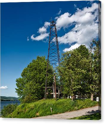 Old Oil Derrick In West Virginia Canvas Print by Mountain Dreams